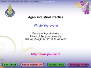 Agro- industrial Practice