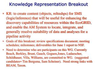 Knowledge Representation Breakout