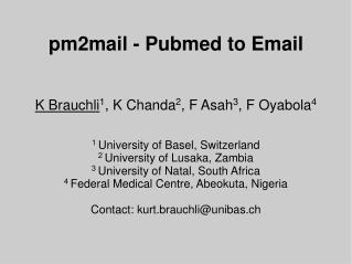 pm2mail - Pubmed to Email