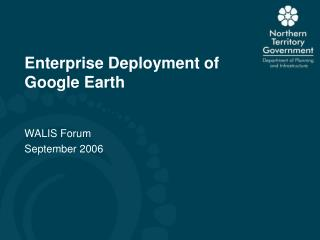 Enterprise Deployment of Google Earth