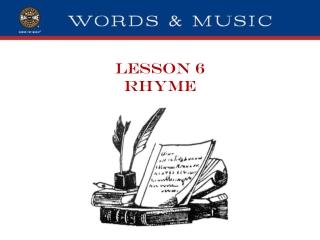 LESSON 6 RHYME