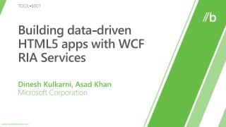 Building data-driven HTML5 apps with WCF RIA Services