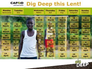 Dig Deep this Lent!