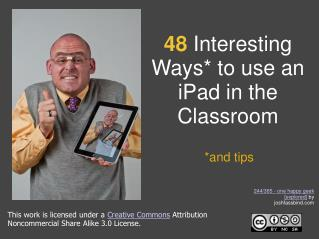 48  Interesting Ways* to use an iPad in the Classroom