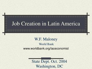 Job Creation in Latin America