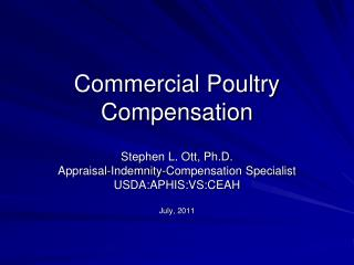 Commercial Poultry  Compensation