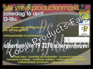 Local Products  Fair