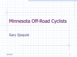 Minnesota Off-Road Cyclists
