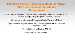 Multilayer Failure Detection Method for Network Services Based on Distributed Components