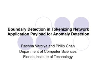 Boundary Detection in Tokenizing Network Application Payload for Anomaly Detection