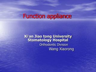 Function appliance