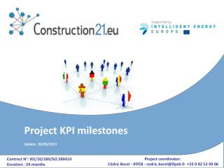 Project KPI  milestones Update :  03 /06/2013