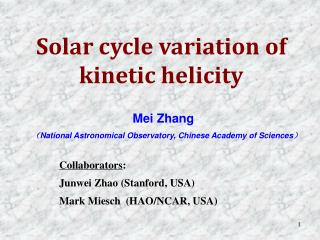 Mei Zhang  ( National Astronomical Observatory, Chinese Academy of Sciences )