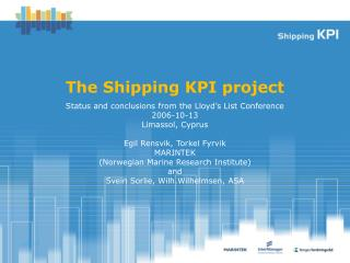 The Shipping KPI project