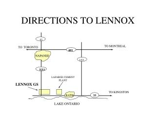 DIRECTIONS TO LENNOX