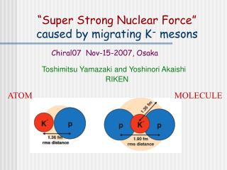 """Super Strong Nuclear Force"" caused by migrating K -  mesons"