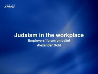 Judaism in the workplace