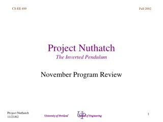 Project Nuthatch The Inverted Pendulum