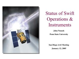 Status of Swift Operations & Instruments