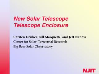 New Solar Telescope Telescope Enclosure