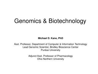Genomics & Biotechnology
