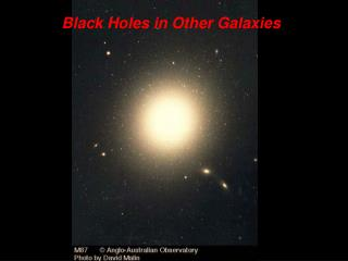 Black Holes in Other Galaxies