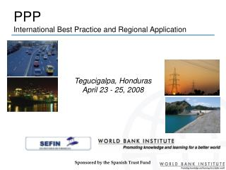 PPP  International Best Practice and Regional Application