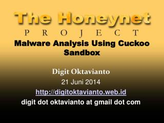 Malware Analysis Using Cuckoo Sandbox