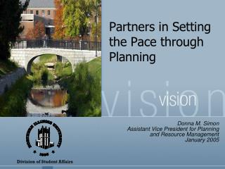 Partners in Setting the Pace through Planning