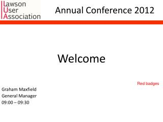 Annual Conference 2012