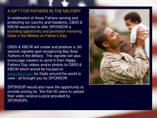 A GIFT FOR FATHERS IN THE MILITARY