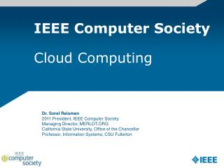IEEE Computer Society Cloud Computing