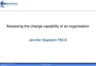 Assessing the change capability of an organisation