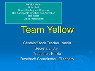 Team Yellow