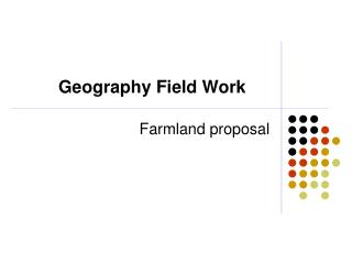 Geography Field Work