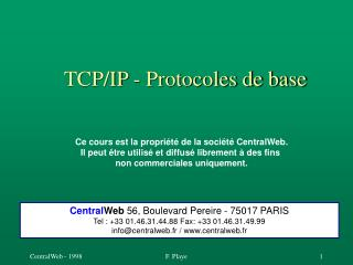 TCP/IP - Protocoles de base