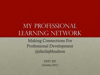 My Professional Learning Network