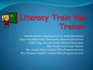Literacy Train the Trainer
