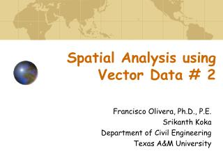 Spatial Analysis using Vector Data # 2