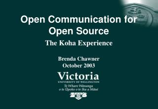 Open Communication for Open Source