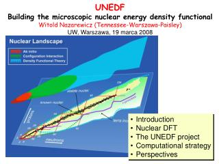 UNEDF Building the microscopic nuclear energy density functional