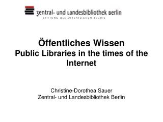 Some figures  Public Libraries in Berlin