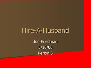Hire-A-Husband