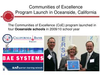 Communities of Excellence Program Launch in Oceanside, California