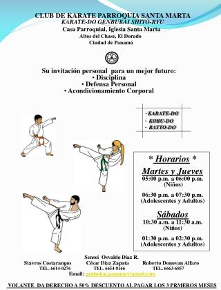 CLUB DE KARATE PARROQUIA SANTA MARTA KARATE-DO GENBUKAI SHITO-RYU