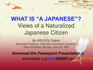 Download this Powerpoint Presentation at debito/ tokai 062507