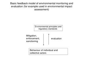 Basic feedback model of environmental monitoring and evaluation (for example used in environmental impact assessment)