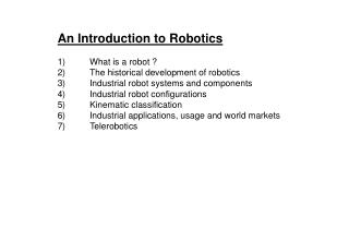What is a robot ?