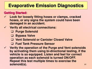 Evaporative Emission Diagnostics
