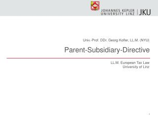Parent-Subsidiary-Directive